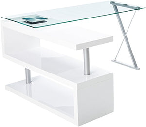 24/7 Shop at Home 247SHOPATHOME IDF-DK6131WH Office-desks, White
