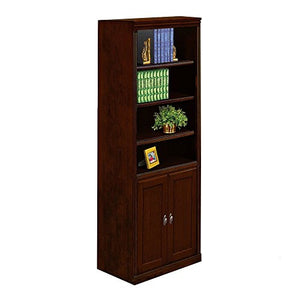 "Huntington Club Six Shelf Bookcase with Doors - 72"" H Huntington Cherry Dimensions: 30""W x 12""D x 72""H Weight: 164 lbs."