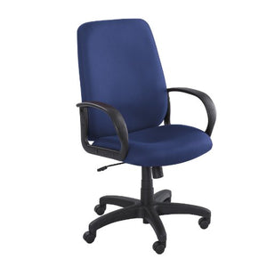 Safco Products 6300BU Poise Executive High Back Chair, Blue