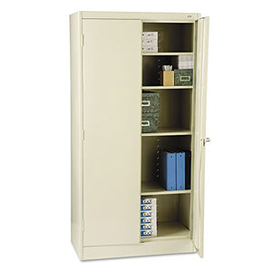 Tennsco 1470PY 36 by 18 by 72 Standard Storage Cabinet with 4 Adjustable Shelves, Putty