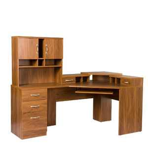 American Furniture Classics Reversible Corner Work Center with Hutch
