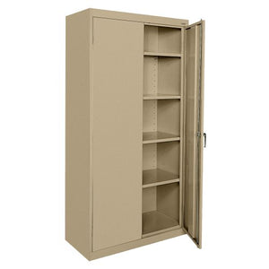 "Sandusky Lee CA41362472-04 Classic Series Storage Cabinet with Adjustable Shelves, 36"" W x 24"" D x 72"" H, Tropic Sand"