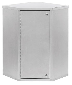 "Single Door Corner Narcotic Cabinet with Dual Locks (22""H X 22.75""W X 15.75""D)"