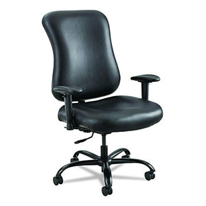Safco Products 3592BL Optimus Big & Tall Chair, 400 lb. Capacity (Optional arms sold separately), Black Vinyl