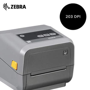 Zebra - ZD420c Ribbon Cartridge Desktop Printer for Labels and Barcodes - Print Width 4 in - 203 dpi - Interface: Wifi, Bluetooth, USB - ZD42042-C01W01EZ