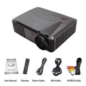 1080P Video Projector HDMI 4500 Lumen LED Home Projector FULL HD Home Theater Cinema Multimedia Movie Projector 1080P HDMI USB VGA LED Projector for PC Computer Laptop Xbox PS4 Video Games
