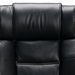 OFM Avenger Series Big and Tall Leather Executive Chair - Black Computer Chair with Arms, Black/Chrome (810-LX-BLK)