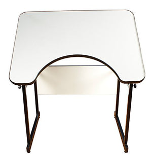 Alvin REFLEX-3 4-Post Table Black Base, White Top