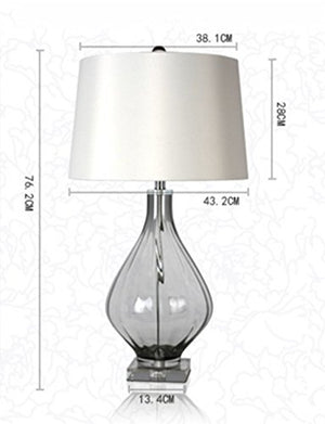 CJSHVR-Lamp American High Standard and Style Glass Lamps Nordic Minimalist Warm Living Room Study Bedroom Bed Lamps