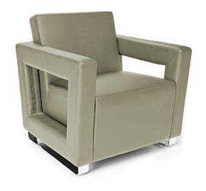 OFM Distinct Series Vinyl Guest / Reception Chair, Taupe