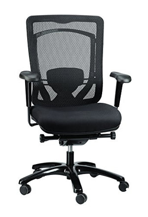 Eurotech Seating Monterey MFSY77 Fabric Seat & Mesh Back Chair, Black