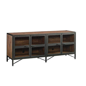"Sauder 420649 Boulevard Cafe Credenza, Holds up to a 65"" TVs, Black & Vintage Oak Finish"