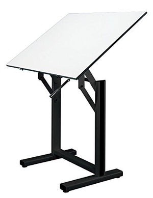 "Alvin EN42-3 Ensign Table, Black Base White Top (31"" x 42"")"