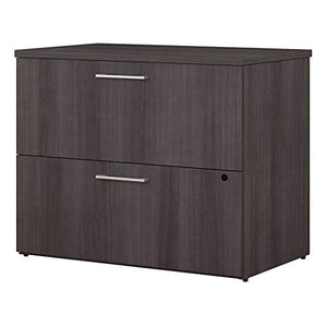 Bush Business Furniture 400 Series 36W 2 Drawer Lateral File Cabinet in Storm Gray