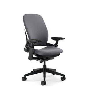 Steelcase Leap Chair by Fully Adjustable - Live Back Technology - Natural Glide System - Thermal Comfort - Firmness Control - Adjustable Arms/Seat Depth - Grey