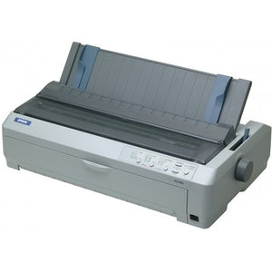 Epson C11C526001 FX-2190 Serial Impact Printer Wide Format 136 COL 9-Pin Parallel and USB Interfaces - Color Light Gray