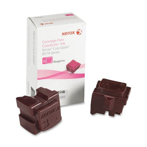 Genuine Xerox Magenta Solid Ink Sticks for the ColorQube 8570 (2 pcs/Box), 108R00927
