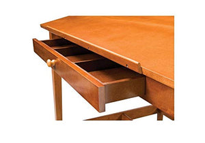 "Natural Birch Veneer Drawing Table - 48"" X 36"" Medium Stain Finish Dimensions: 48""W X 36""D X 34""H Weight: 90 Lbs"