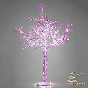 New Lamps Tree 2.5 meters 24V 50W LED pink with clear light flashing