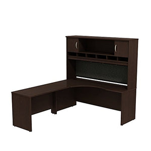 Series C 72W Left Hand Corner L Desk with 72W 2-Door Hutch