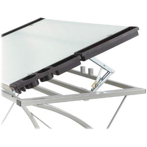 Safco Products 3966TG Xpressions Glass Top Drafting Table, Metallic Gray Frame