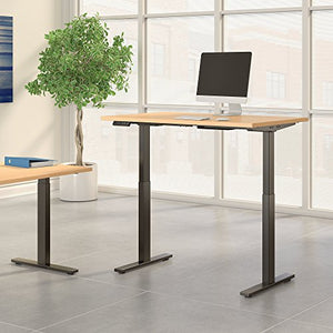 Move 60 Series 48W x 24D Height Adjustable Standing Desk in Natural Maple with Black Base