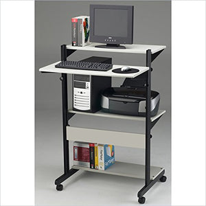 Mayline Small Home Office Soho Adjustable Computer Table,