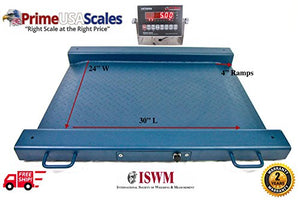 "1,000 LB x 0.2 LB, Optima Scale OP-917 Lightweight, Portable Drum Scale 32""W x 30""L With NTEP Mild Steel Indicator Package NEW !!!"