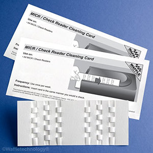 Waffletechnology MICR/Check Reader Cleaning Cards (660)