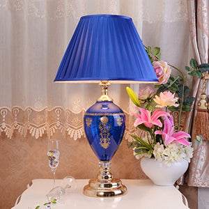 505 HZB European Desk Lamp Bedroom Bedside Cabinet Lamp Study Creative Fashion Desk Lamp (Size : L4372cm)