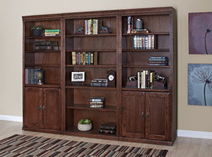 Martin Furniture Huntington Oxford Library Bookcase With Lower Doors, Burnish Finish, Fully Assembled