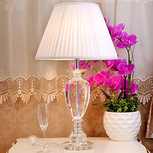 505 HZB European Modern Crystal Table Lamp Bedroom Bedside Living Room Study Lamp (Size : L4070cm)