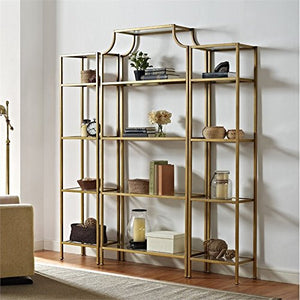 Pemberly Row 3 Piece Etagere in Gold