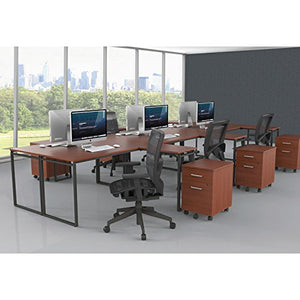 "Linea Italia SV751CH Seven Series L-Shaped Desk, 60"" by 60"" by 29-1/2"", Cherry"
