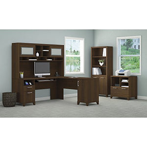 Achieve L Shaped Desk with Hutch, Bookcase and Printer Stand File Cabinet