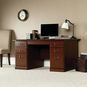 "Sauder 109830 Heritage Hill Desk, L: 59.45"" x W: 29.53"" x H: 29.25"", Classic Cherry finish"