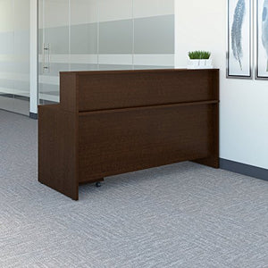 Bush Business Furniture Series C 72W x 30D Reception Desk with Mobile File Cabinet in Mocha Cherry