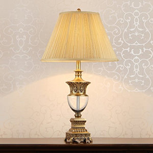 505 HZB European Crystal Lamp Room Study Bedroom Bedside Lamp