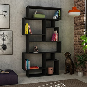 Ada Home Décor  Berkshire Bookcase, 38'' x 66'' x 10'' , Anthracite