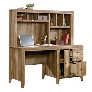"Sauder 420410 Dakota Pass Computer Desk 59.055"" L x 23.543"" W x 59.921"" H Craftsman Oak"