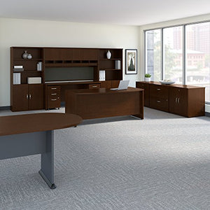 Bush Business Furniture Series C Executive Office Suite with Storage and Conference Table in Mocha Cherry