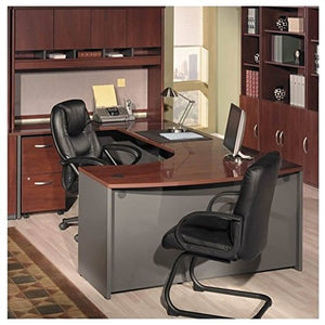 Bush Business Series C 5-Piece U-Shape Bow-Front Desk in Hansen Cherry