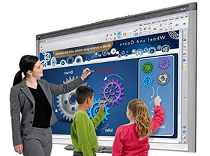 "87"" (7 feet Long by 4 feet Wide) Interactive whiteboard SBX885 and Projector for Collaborative presentations (SBX885 with Epson 575W Projector and Speakers)"