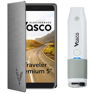 "Vasco Traveler Premium 5"" + Scanner: Voice Translator with Handheld Scanner, GPS, Travel Phone, Guide and more!"