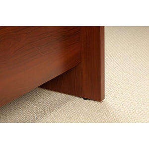 Bush Business Furniture Series C Elite 60W x 43D Right Hand Bowfront Desk Shell with 42W Return in Hansen Cherry
