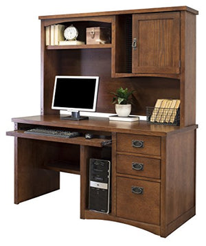 Martin Furniture Mission Pasadena Single Pedestal Computer Desk