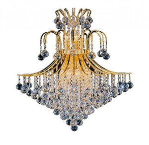Artistry Lighting Toureg Collection Steel and Crystal Chandelier - Chrome Gold, Chrome