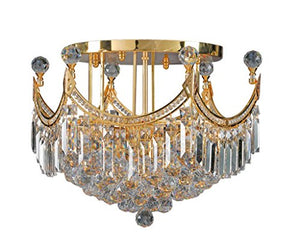 Artistry Lighting Corona Collection Chrome Crystal 9-light Flush Mount Gold Gold