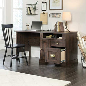 "Sauder 422182 New Grange Computer Desk, L: 59.056"" x W: 23.39"" x H: 29.09"", Coffee Oak finish"