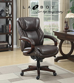 La-Z-Boy Bellamy Executive Bonded Leather Office Chair - Coffee (Brown)